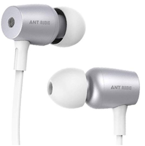 Ant Audio Thump 504 Wired Portable Hi-Fi Earphone with Mic (White and Silver)