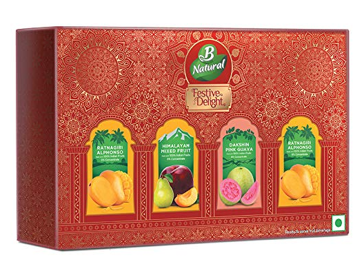 B Natural Juice Diwali Festive Pack (4 X 300 ml) PET Juice