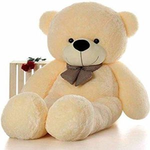 CLICK4DEAL 4 Feet Cream Teddy Bear 122Cm Rs 485 amazon dealnloot
