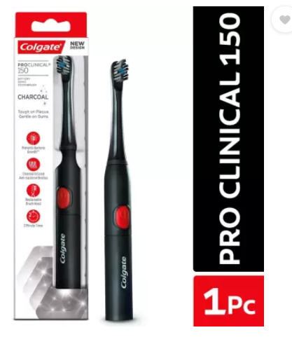 Colgate Pro-Clinical 150 Charcoal - 1 Pc Electric Toothbrush  (Black)