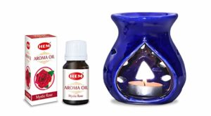 Hem Mystic Rose Ceramic Aroma Oil Set Rs 146 amazon dealnloot