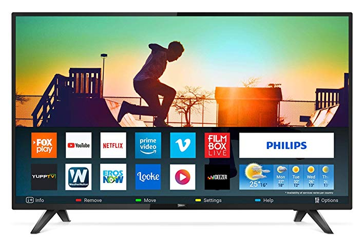 Philips 139 cm (55 inches) 6100 Series 4K LED Smart TV
