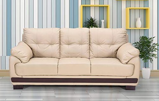 Royaloak Elton Three Seater Sofa (Beige)