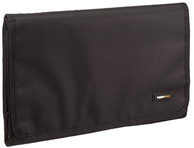 AmazonBasics Tri-Fold Hanging Cosmetics and Toiletry Kit