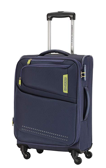 American Tourister Denton Polyester 80 cms Blue Softsided Check-in Luggage