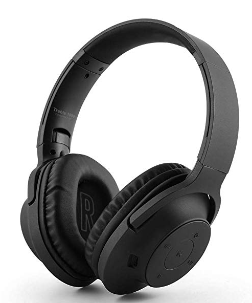 Ant Audio Treble 1000 Over Ear Powerful Bass Wireless Bluetooth Headphones with Mic (Black)