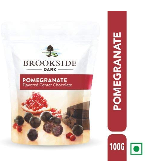 Brookside Flavored Center Chocolate - Pomegranate Pouch, 3 X 100 g