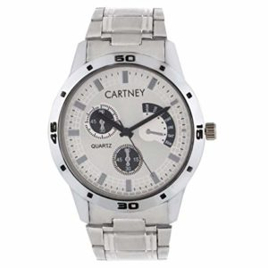 Cartney Analogue Round White Dial Watch for Rs 95 amazon dealnloot
