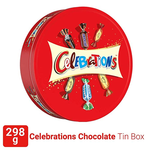 Celebrations Valentines Day Assorted Chocolate Gift Pack Tin Box 298.2g