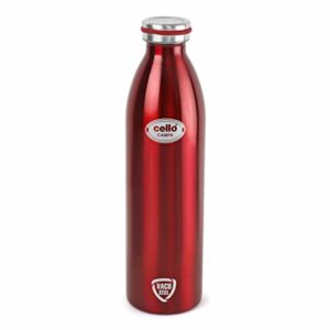 Cello Campa Stainless Steel Flask 800ml Red Rs 496 amazon dealnloot
