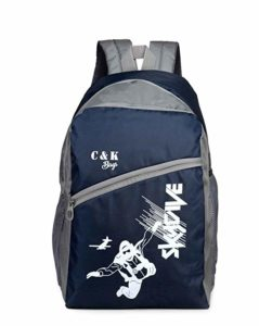 Chris Kate Polyester 30 L Blue Grey Rs 299 amazon dealnloot