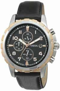 Fossil Chronograph Black Dial Men s Watch Rs 3746 amazon dealnloot