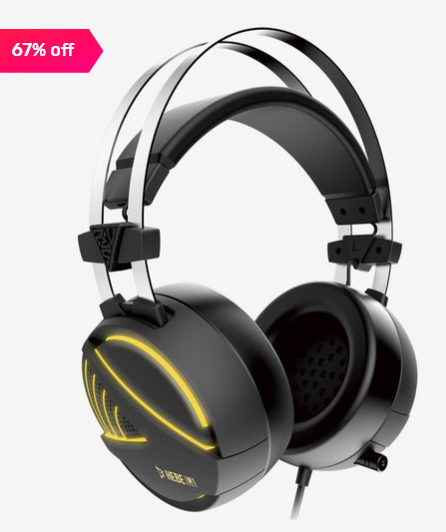 Gamdias Hebe M1 RGB Gaming Over the Ear Headset with Mic (Black) at Rs.1994
