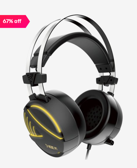 Gamdias Hebe M1 RGB Gaming Over the Ear Headset with Mic (Black)