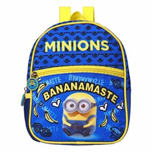 Minions Polyester 21 cms Blue School Backpack Rs 171 amazon dealnloot
