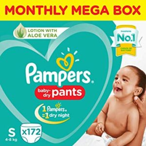 Pampers Small Size Diaper Pants Monthly Box Rs 1164 amazon dealnloot