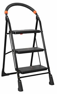 Parasnath Black Heavy Folding Ladder With Wide Rs 1234 amazon dealnloot