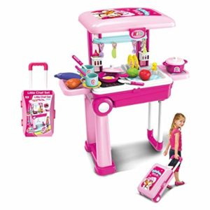 Popsugar Kitchen Set Trolly with Light and Rs 899 amazon dealnloot