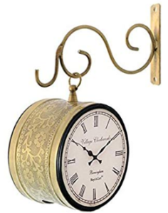 RoyalsCart Double Sided Railway Station, Platform Analog Wall Clock