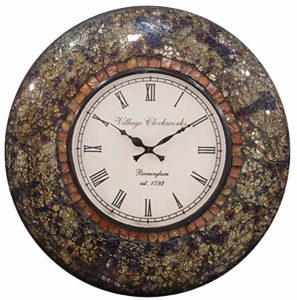 RoyalsCart Glass Mosaic Analog Wall Clock Multicolor Rs 415 amazon dealnloot
