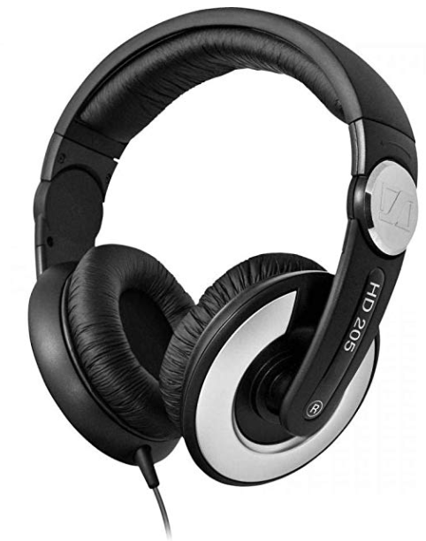 Sennheiser HD 205 II Closed Back Around Over-Ear Stereo Headphone