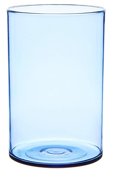 Signoraware Crystal Clear Glass Set, 280ml, Set of 6, Blue