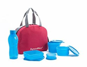 Signoraware Sling Plastic Lunch Box with Red Rs 499 amazon dealnloot