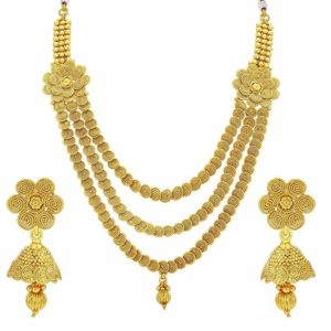 Sukkhi Jewellery Sets for Women Golden 2907NGLDPP3100 Rs 199 amazon dealnloot