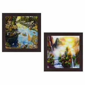 Wens Sunset with Lake View Wall Hanging Rs 116 amazon dealnloot