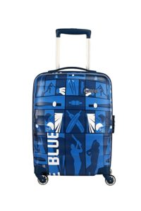 American Tourister Play4blue Polycarbonate 55 cms Blue Rs 2795 amazon dealnloot