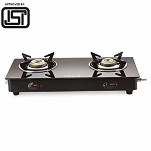 Attro Rasoi Toughened Glass 2 Burner Gas Rs 1799 amazon dealnloot