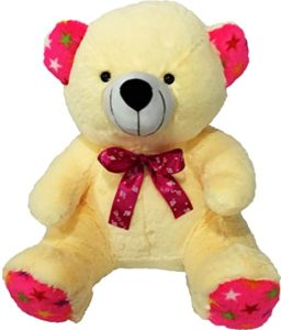 Benny N Bunny Teddy with Bow Cream Rs 184 amazon dealnloot