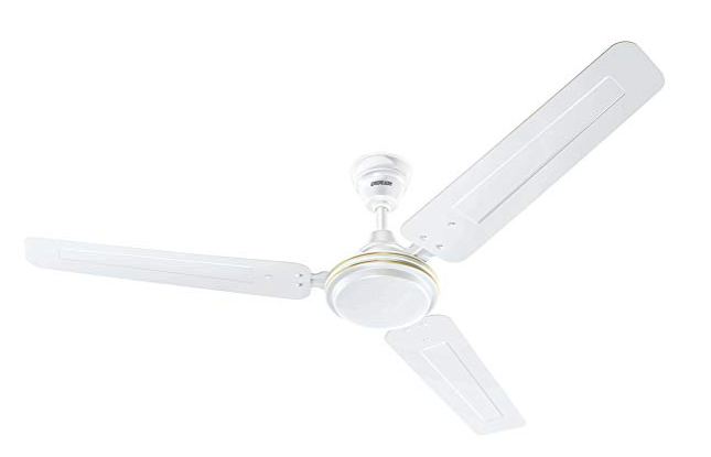 Eveready Fab M 1200mm High Speed 3 Blades Ceiling Fan (White)