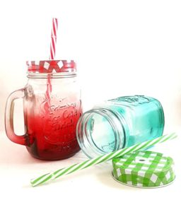 Favola Shaded Multicolor Mason Jar for Drinks Rs 205 amazon dealnloot