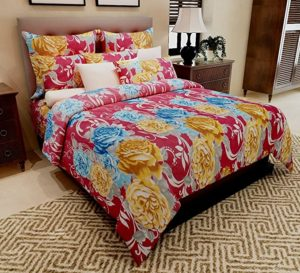 Home Candy 100 Cotton Dazzling Floral Double Rs 299 amazon dealnloot