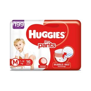 Huggies Dry Pants Medium Size Diapers 16 Rs 109 amazon dealnloot