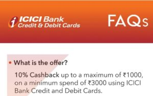 Myntra ICICI Offer