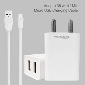 Portronics Adapto 36 USB Wall Adapter with Rs 199 amazon dealnloot