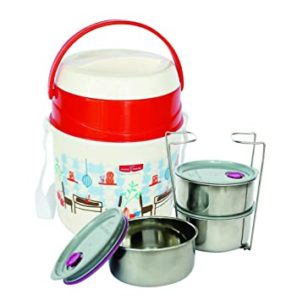 Princeware Leak Proof Insulated Tiffin Plastic Lunch Rs 275 amazon dealnloot
