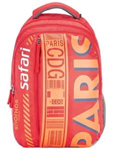 SAFARI 26 5 Ltrs Red Laptop Backpack Rs 895 amazon dealnloot