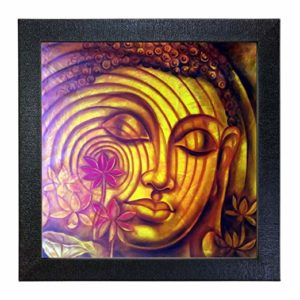 Sehaz Artworks Buddha Wall Photo Painting Carbon Rs 100 amazon dealnloot