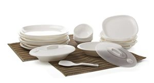 Signoraware Square Dinner Set 23 Pieces White Rs 820 amazon dealnloot