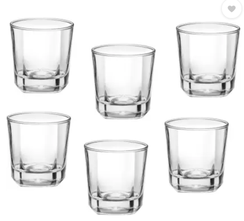 Treo (Pack of 6) CRESCENT COOL Glass Set (205 ml, Glass)