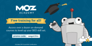 moz academy free courses SEO till 31st May