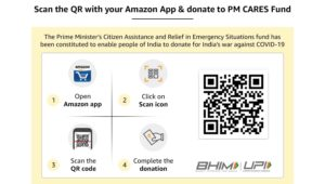 Donate Rs 1 or more Amazon Will contribute Rs 10