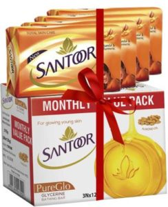 Santoor Sandal Turmeric and Glycerine Bar 7 Rs 169 flipkart dealnloot