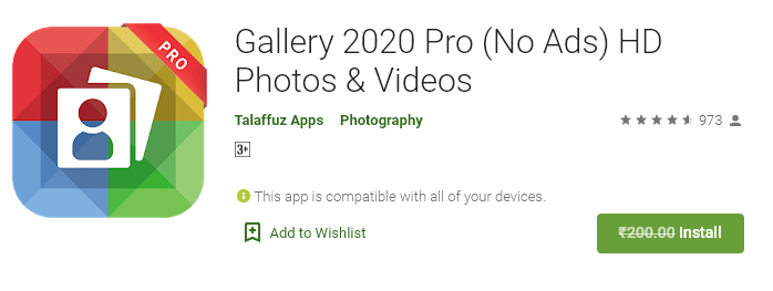 gallery 2020 free