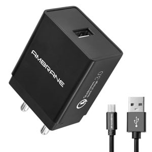 Ambrane AQC 56 3A Qualcomm Quick Charge Rs 399 amazon dealnloot