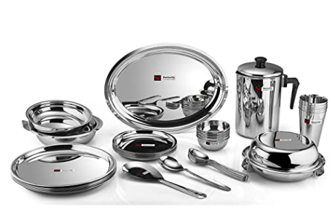 Butterfly Stainless Steel Dinner Set - 12 Pieces, Silver