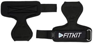 Fitkit FPG1 Extra Padded Palm Wrist Grip/Support with Adjustable Neoprene Strap, Free Size (Pair)